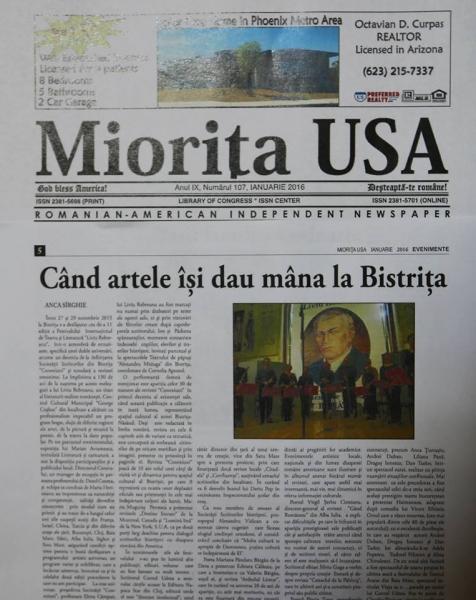 CENTRUL CULTURAL MUNICIPAL BISTRIȚA ÎN PAGINILE REVISTELOR AMERICANE