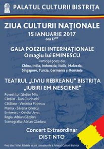 LA BISTRIȚA - SĂRBĂTORITĂ ZIUA CULTURII NAȚIONALE