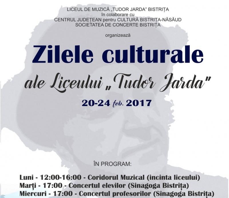 """ZILELE CULTURALE ALE LICEULUI DE MUZICĂ """"TUDOR JARDA"""""""