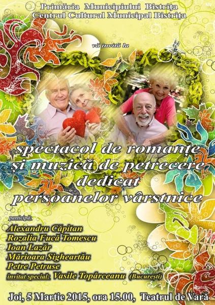 JOI 5 MARTIE, SPECTACOL DE ROMANȚE ȘI MUZICĂ DE PETRECERE LA TEATRUL DE VARĂ !