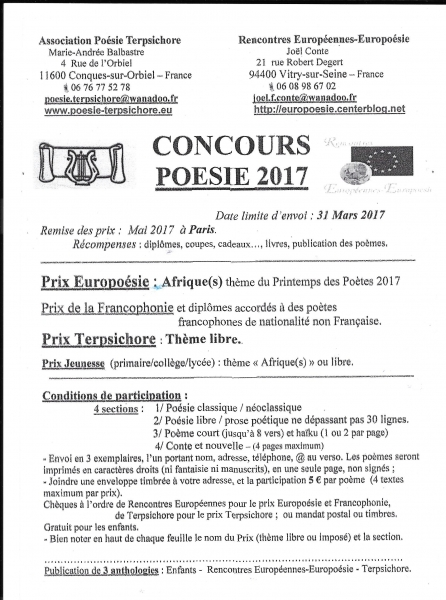 CONCURS DE POEZIE 2017