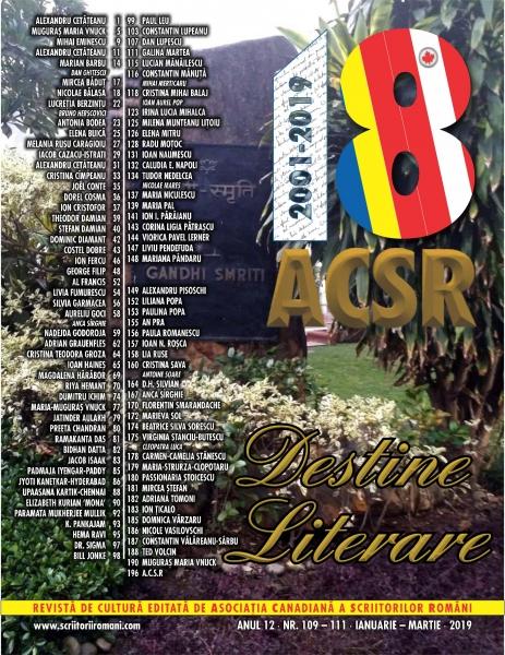DESTINE LITERARE, NR.1 - 2019