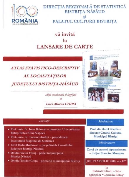 INVITAȚIE LA LANSARE DE CARTE !
