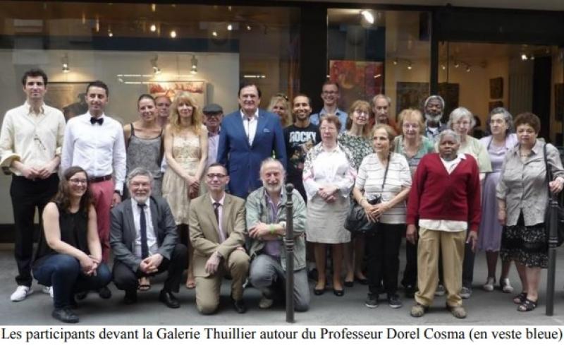 Joël CONTE et l'exposition « Art en Ciel » Galerie Thuillier à Paris 3ème du 18 au 31 mai 2018 Invité d'Honneur : Professeur Dorel COSMA - 100 ans de Francophonie avec la Roumanie