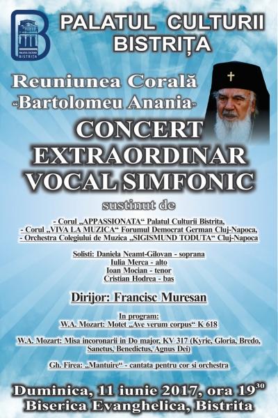 CONCERT EXTRAORDINAR VOCAL SIMFONIC LA BISERICA EVANGHELICĂ