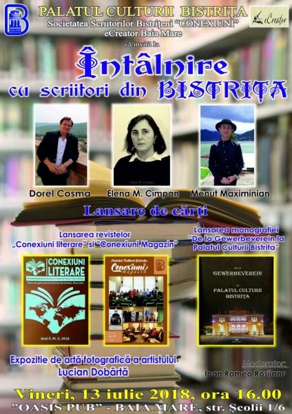 ÎNTÂLNIRE CU SCRIITORI DIN BISTRIȚA, LA BAIA-MARE