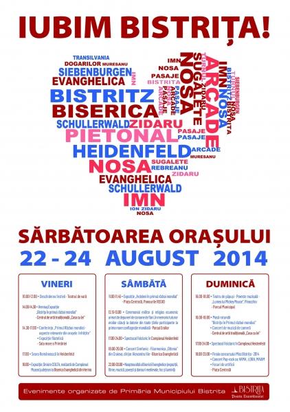 ZILELE MUNICIPIULUI BISTRIȚA 2014 - SĂRBĂTOAREA ORAȘULUI!