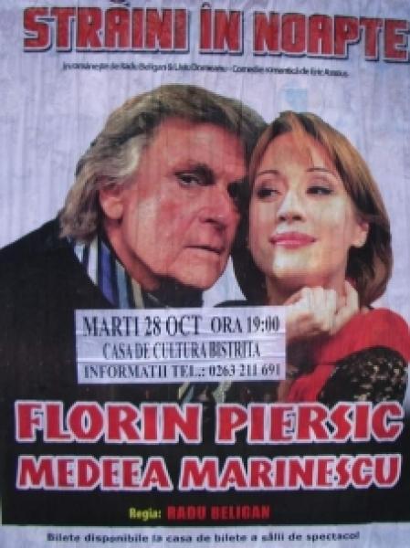 """""""STRĂINI ÎN NOAPTE"""" CU FLORIN PIERSIC LA BISTRIȚA !"""