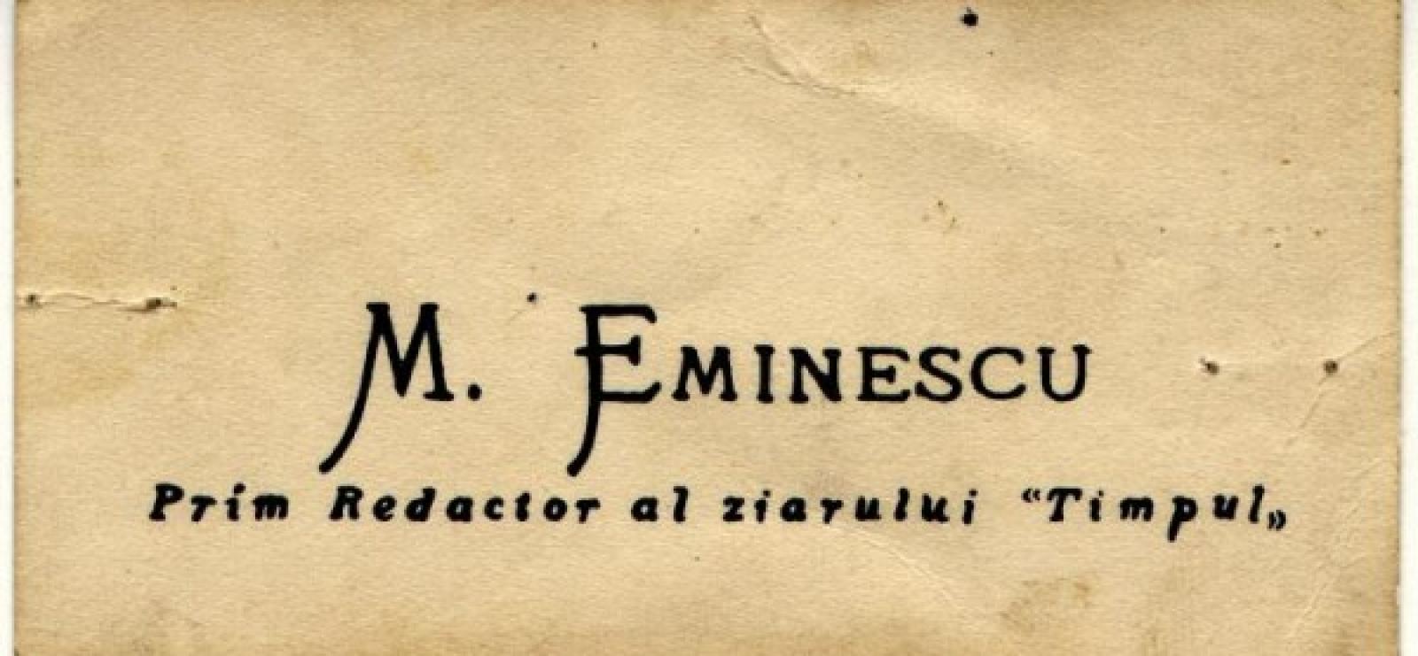 ULTIMUL ARTICOL AL LUI EMINESCU LA ,,TIMPUL