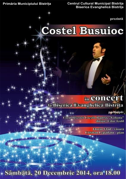 COSTEL BUSUIOC, ÎN CONCERT LA BISTRIȚA PE 20 DECEMBRIE