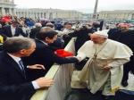 Dr. Dorel Cosma s-a întâlnit cu Papa Francisc, la Vatican. Mesaj de binecuvântare pentru Bistriţa
