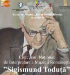 """CONCURSUL NAȚIONAL  ,,SIGISMUND TODUȚĂ"""" 2016"""
